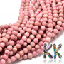 Tumbled beads in the shape of balls of rhodonite mineral with a diameter of 4 mm with a hole for a thread with a diameter of 1 mm. The beads are completely natural without any coloring.Country of origin: MongoliaTHE PRICE IS FOR 1 PCS.