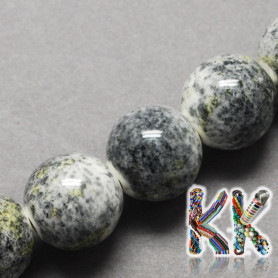 Porcelain beads - painted, glazed - ∅ 8 mm - beads