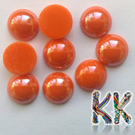 Waxed seed cabochon - round - ∅ 14 mm