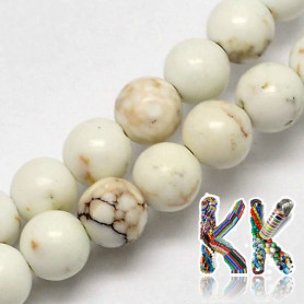 Natural white turquoise - ∅ 4 mm - ball