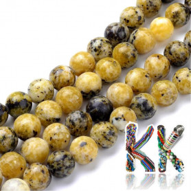 Natural yellow turquoise - ∅ 4 - 5 mm - ball