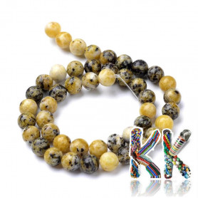 Natural yellow turquoise - ∅ 6 mm - ball