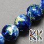 Handmade porcelain beads with painting and glazed surface in the shape of balls with a diameter of 8 mm and a thread with a width of 2 mm. The beads are made of genuine handmade Chinese porcelain, so each bead is original.THE PRICE IS FOR 1 PCS.