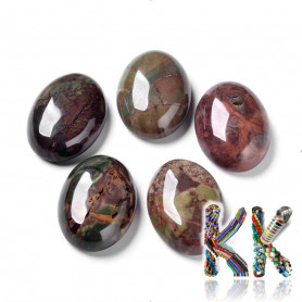 Mineral cabochon - landscape agate - 25 x 18 x 8 mm - oval