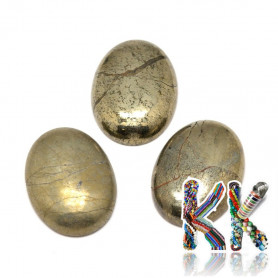 Mineral cabochon - pyrite - 18 x 13 x 6 mm - oval