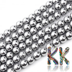Synthetic plated nemag. hematite - ∅ 4 mm - ball - quality A