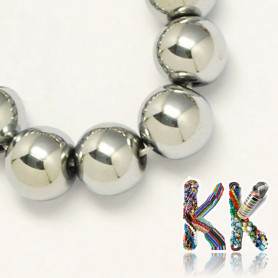 Synthetic plated nemag. hematite - ∅ 6 mm - ball - quality A
