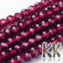 Tumbled and faceted beads in the shape a rondelle made of natural mineral garnet with a diameter of 3 mm, a height of 2 mm and a hole for a thread with a diameter of 0.5 mm. The beads are completely natural without any dye. Country of origin: India THE PRICE IS FOR 1 PCS.