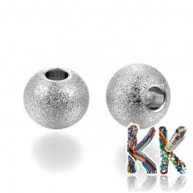 304 Stainless steel separating bead with stardust - ball - ∅ 8 mm