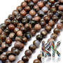 Tumbled round beads made of natural opal mineral in brown color with a diameter of 8 mm and with a hole for a thread with a diameter of 1 mm. The beads are completely natural without any dye. Country of origin: Africa (not specified by the manufacturer) THE PRICE IS FOR 1 PCS.