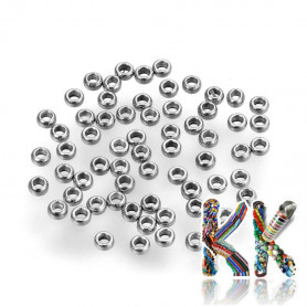 304 stainless steel crimp beads - ∅ 1.5 x 0.8 mm - quantity 1 g (approx. 180 pcs)