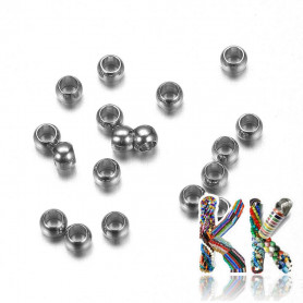 316 stainless steel crimp beads - ∅ 2 x 1.5 mm - quantity 1 g (approx. 70 pcs)