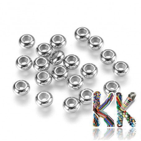 304 stainless steel crimp beads - ∅ 6 x 3 mm