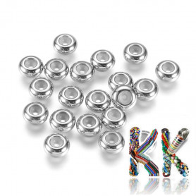304 stainless steel crimp beads - ∅ 7 x 3.5 mm