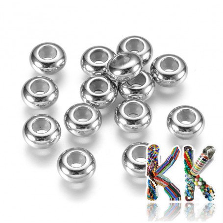 304 stainless steel crimp beads - ∅ 8 x 4 mm