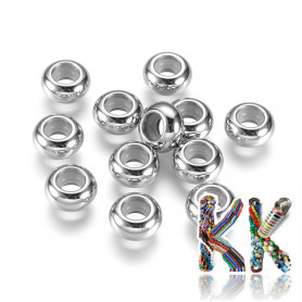 304 stainless steel crimp beads - ∅ 9 x 4.5 mm