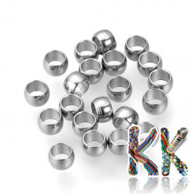304 stainless steel crimp beads - ∅ 3 x 2 mm - quantity 1 g (approx. 30 pcs)