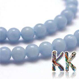 Natural angelite - ∅ 6 mm - beads