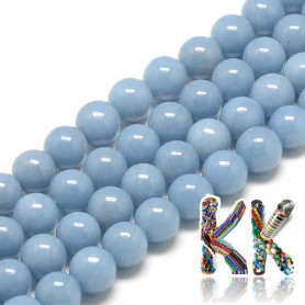 Natural angelite - ∅ 4 mm - beads