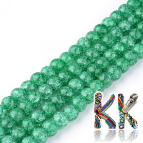 Synthetic cracked crystal - ∅ 6 mm - one-color beads