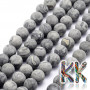 Cut and unpolished (frosted) round beads made of natural marble with a diameter of 7.5 - 8 mm with a hole for a thread with a diameter of 1 mm. The beads are completely natural without any dye. This mineral is commonly known by its trademark name Landscape Jasper. Country of origin: China THE PRICE IS FOR 1 PCS.