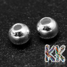 Separating bead made of sterling silver (925 Ag) - ball - ∅ 8 mm