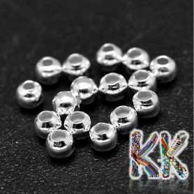 Separating bead made of sterling silver (925 Ag) - ball - ∅ 6 mm