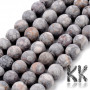 Cut and unpolished (frosted) round beads made of natural mineral maifanite with a diameter of 8 mm with a hole for a thread with a diameter of 1 mm. The beads are absolutely natural without any dye. Country of origin: China THE PRICE IS FOR 1 PCS.