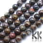 Tumbled round beads made of natural mineral pietersite (storm stone) with a diameter of 8 mm and a hole for a thread with a diameter of 1 mm. The beads are absolutely natural without any dye. Country of origin: Brazil THE PRICE IS FOR 1 PCS.