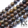 Tumbled round beads made of natural mineral pietersite (storm stone) with a diameter of 6 mm and a hole for a thread with a diameter of 1 mm. The beads are absolutely natural without any dye. Country of origin: Brazil THE PRICE IS FOR 1 PCS.