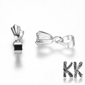 Ice ax flap with eyelet - platinum - 15 mm