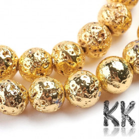 Natural lava - ∅ 8 mm - plated balls