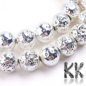 Natural lava - ∅ 6 mm - plated balls