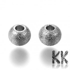 304 Stainless steel separating bead with stardust - ball - ∅ 6 mm