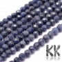 Tumbledand faceted round beads made of natural mineral sapphire with a diameter of 3 mm with a hole for a thread with a diameter of 0.5-0.6 mm. The beads are completely natural without any dye. Country of origin: South Africa THE PRICE IS FOR 1 PCS.