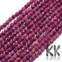 Tumbled and faceted round beads made of natural mineral ruby with a diameter of 3 - 3.5 mm with a hole for a thread with a diameter of 0.5-0.6 mm. The beads have a beautifully rich color typical of ruby. The beads are completely natural without any dye. Country of origin: Brazil THE PRICE IS FOR 1 PCS.