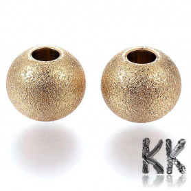 304 Plated stainless steel separating bead with stardust - ball - ∅ 8 mm