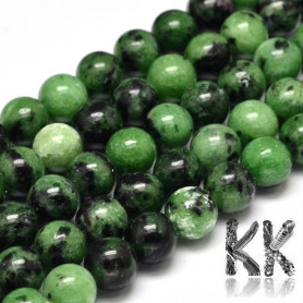 Natural ruby in zoisite - ∅ 8 mm - balls