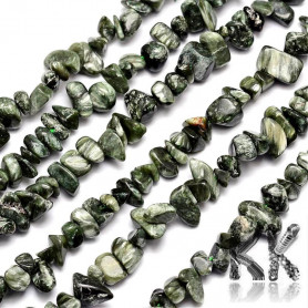 Natural serafinite - fragments - 4-12 x 4-12 mm - weight 5 g (approx. 8.5 cm)