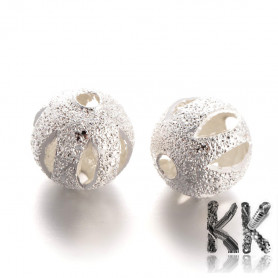Brass beads with stardust - ∅ 8 mm - perforated ball