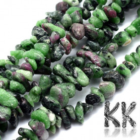 Natural ruby in zoisite - fragments - 5-8 mm - weight 5 g (approx. 5 cm)