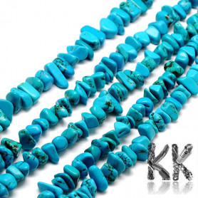 Natural sinkiang turquoise - fragments - 7 x 14 - 6 x 10 mm - weight 5 g (approx. 3.5 cm)