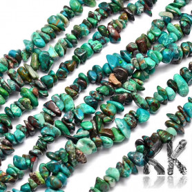 Natural chrysokol - fragments - 4 x 12 - 4 x 12 mm - weight 5 g (approx. 6 cm)