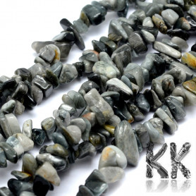 Natural falcon eye - fragments - 5-8 mm - weight 5 g (approx. 8 cm)