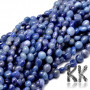 Tumbled beads in the shape of nuggets made of natural dumortierite, size 5-10 x 6-7 x 3-7 mm with a hole for a thread with a diameter of 1 mm. The beads are absolutely natural without any dye. Country of origin: Brazil THE PRICE IS FOR 1 PCS.