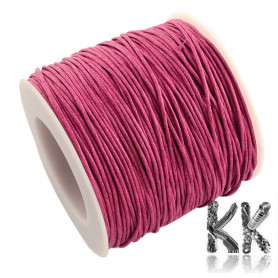 Waxed cotton cord - ∅ 1 mm - roll 90 meters