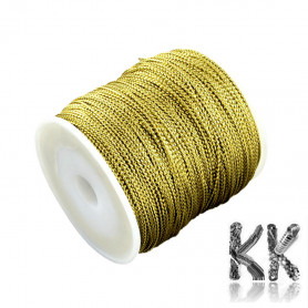 Metallic cord - thickness 1 mm - coil 100 m