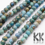 Tumbled round beads made of natural mineral regalite (or variscite, or marine sedimented jasper) with a diameter of 4 mm with a hole for a thread with a diameter of 0.5-1 mm. The beads are absolutely natural without any dye. Country of origin: China THE PRICE IS FOR 1 PCS.