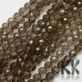 Tumbled and faceted beadsmade of natural smoky mineral with a diameter of 8 mm with a hole for a thread with a diameter of 1 mm. The beads are completely natural without any dye. Country of origin: Brazil THE PRICE IS FOR 1 PCS.