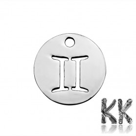 Pendant made of 304 stainless steel - zodiac sign - 12 x 1 mm